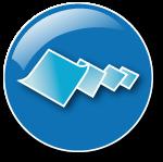 blå knapp, flygande ljusblå pappersark, avveckla-aktiebolag