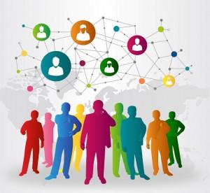 Figurer grupp kommunikation world